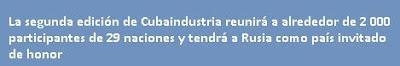 Abre Cuba espacios para negocios industriales