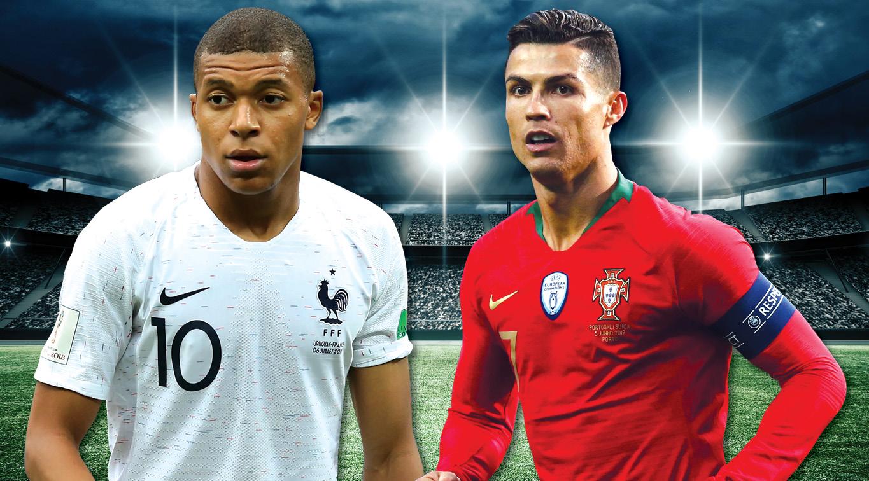 Kylian Mbappe and Cristiano Ronaldo