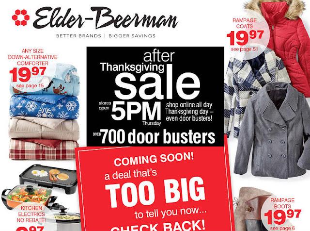 Elder Beerman Black Friday 2017 Ad