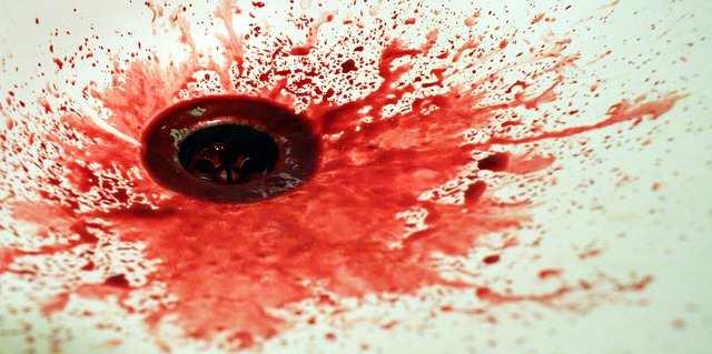 اللعاب المختلط بالدم 