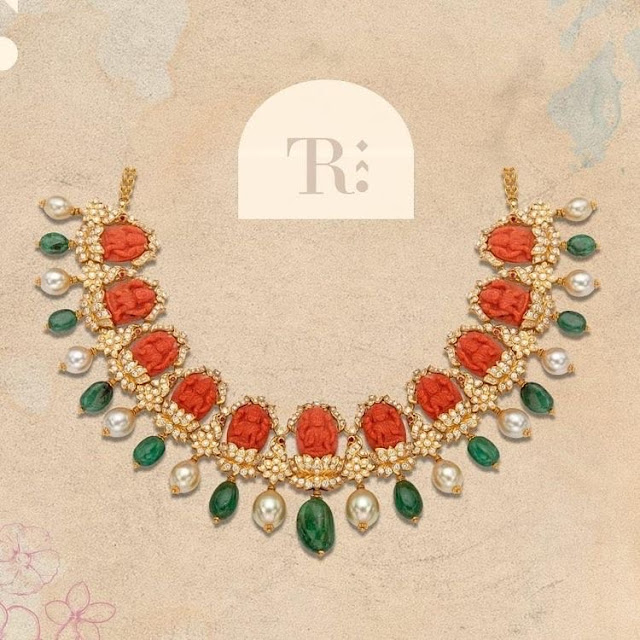 Lakshmi Coral Necklace by Tibarumal