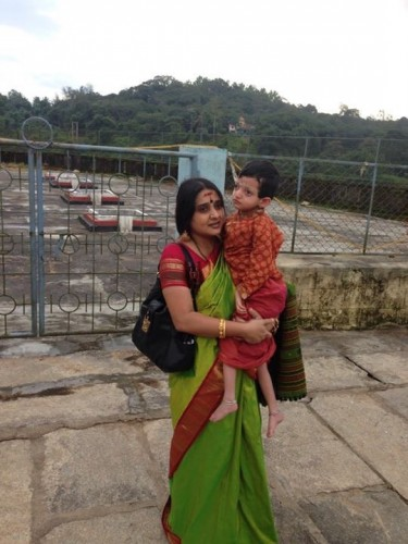 Malavika Avinash with Son