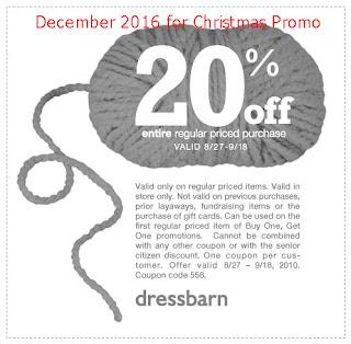 Dress Barn coupons december 2016
