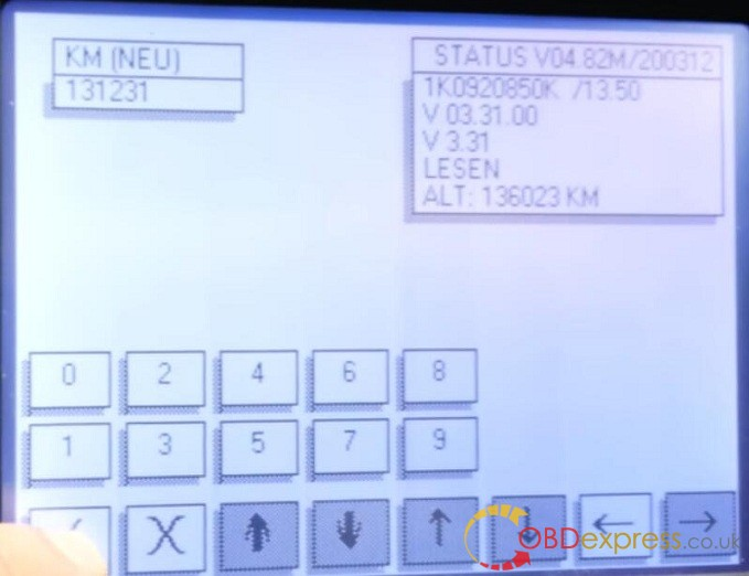 4 étapes! Digiprog 3 Chang KM pour VW Golf 5 2004 via OBD 8