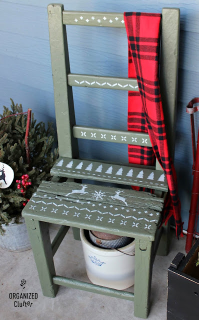 Rustic Wooden Chair To Christmas Sweater Chair