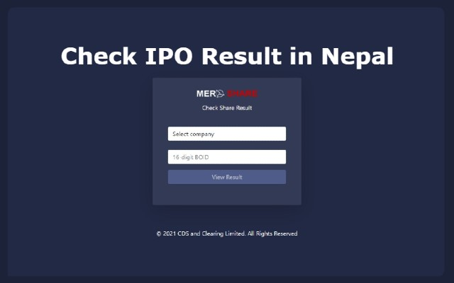 Check view IPO result online
