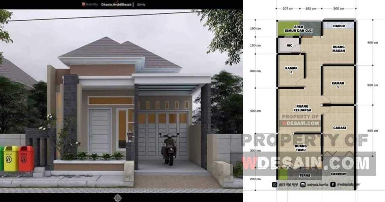 Rumah Ukuran 7X15 Tampak Depan Ada Garasi Dan Carport - DESAIN RUMAH  MINIMALIS
