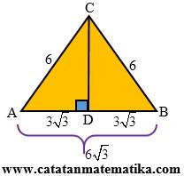 Luas segitiga sama kaki