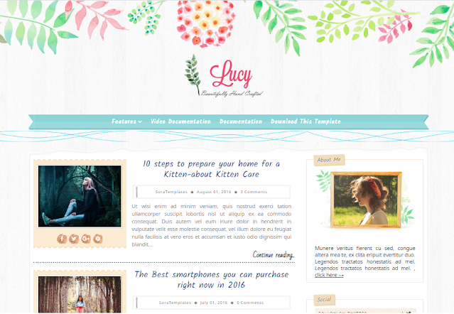 simple blogger templates 2021 Lucy Beauty