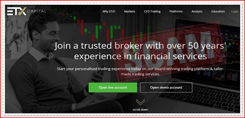 Мошеннический сайт etxcapital.com – Отзывы? Брокер ETX Capital мошенники! Информация