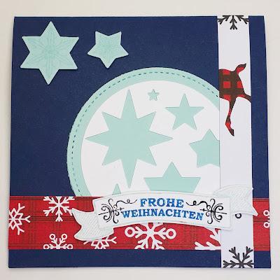 """Quadratische Weihnachtskarte """"Sterne"""" Stampin' Up! www.eris-kreativwerkstatt.blogspot.de"""