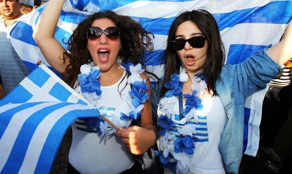World Cup Brazil 2014: sexy hot girls football fan, beautiful woman supporter of the world. Pretty amateur girls, pics and photos  Grecia greece greek