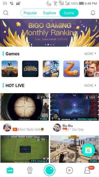 Cara Mendapatkan Uang Hanya Live Streaming Dari Bigo Live