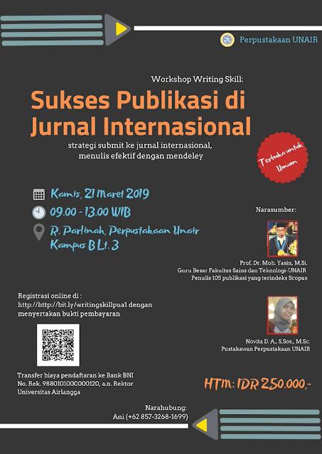 Sukses Publikasi di Jurnal Internasional