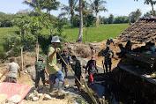TMMD 108 Kodim 1628/ Sumbawa Barat Tingatkan Kembali Semangat Gotong Royong Di Tengah Masyarakat