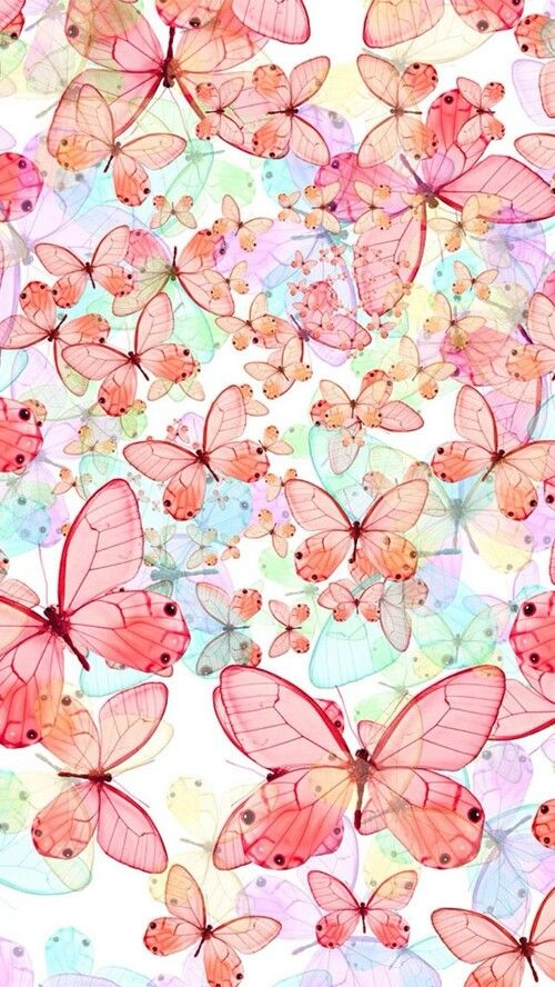 Pink vintage butterfly background - photo#29