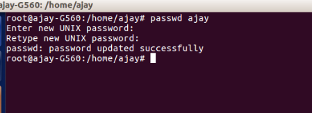 Linux Command to change user password
