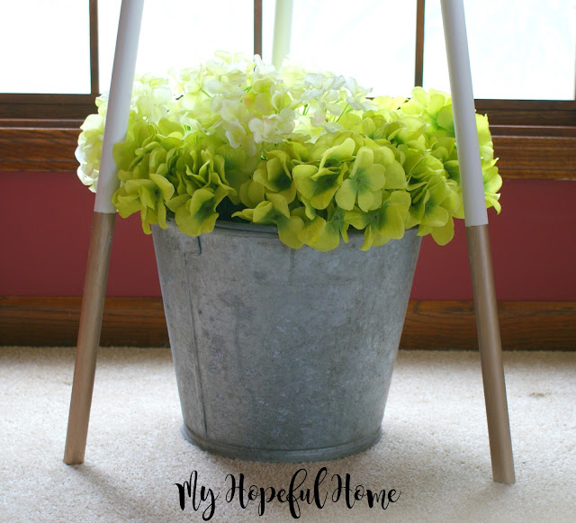 DIY Paint-Dipped Three-Legged Table Our Hopeful Home