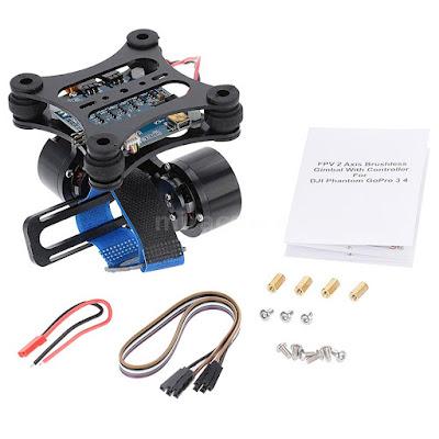Gimbal Kamera Drone Terbaik BGC 2 Axis Brushless - OmahDrones