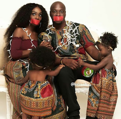 Check out this lovely ankara themed family photo shoot