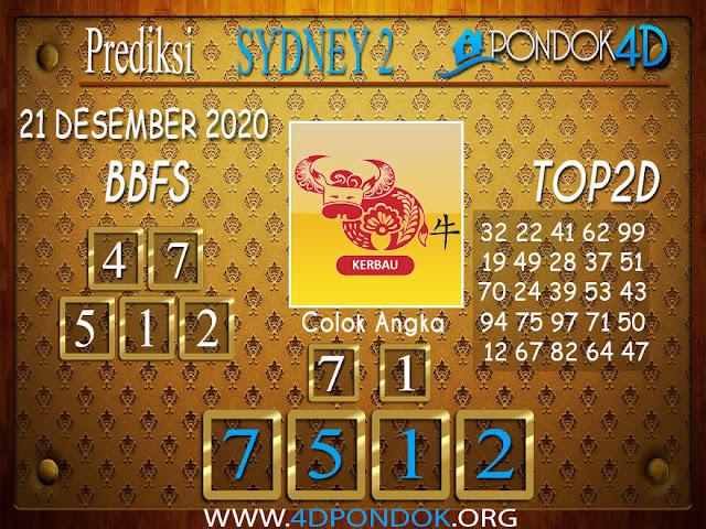 Prediksi Togel SYDNEY2 PONDOK4D 21 DESEMBER 2020