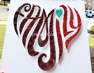 Paper Quilling Family Heart