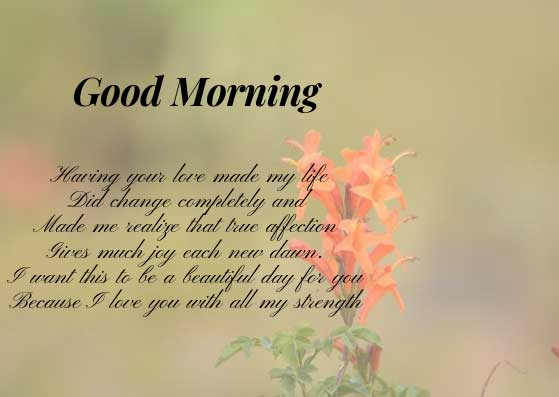 Romantic Good Morning Wishes