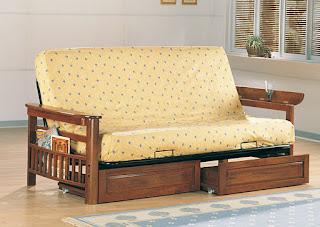 Weathered living room futon