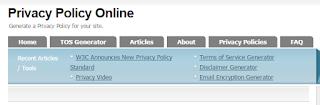 Membuat Privacy Policy Untuk Blog