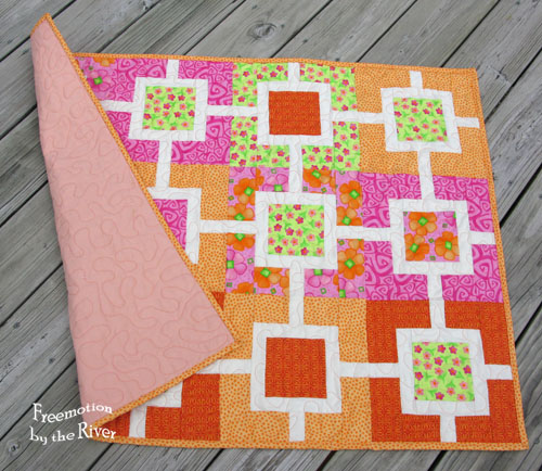 Sherbert Garden Fence and peach backing at Freemotion by the River