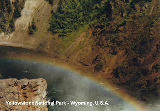 yellowstone falls rainbow