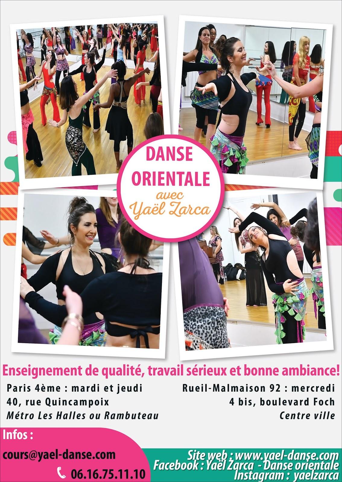Yaël Zarca, danse orientale, Paris, danse du ventre, cours