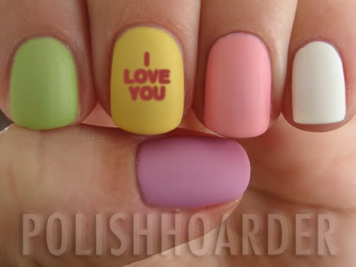 Valentine Day Nails...so cute