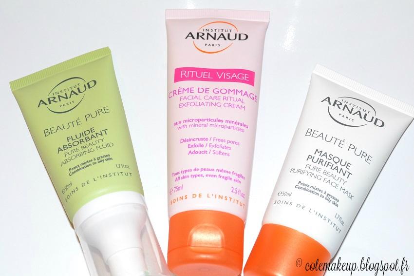 avis routine soins Institut Arnaud cotemakeup.blogspot.fr Côté Make-up