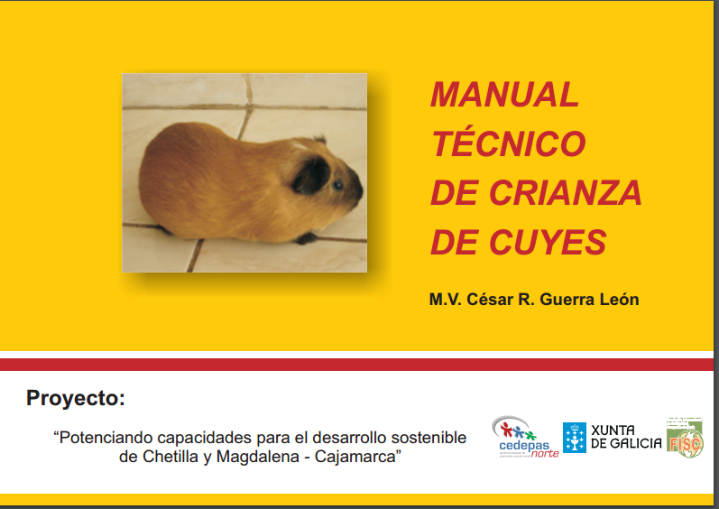 Manual tecnico de crianza de cuyes libros de veterinaria for Manual cria de cachamas