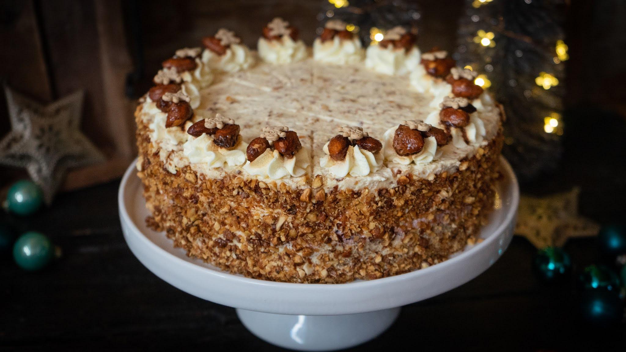 Gebrannte-Mandel-Torte - Rezept und Video von Alexandras Food Lounge | SCCC 2020: Türchen Nr. 7 | Gewinnspie