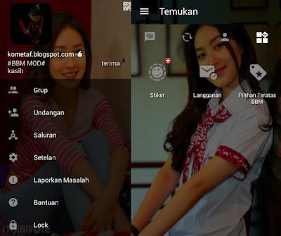 BBM MOD v3.0.1.25 Natastha Wilona/ Reva Anak Jalanan APK full mod