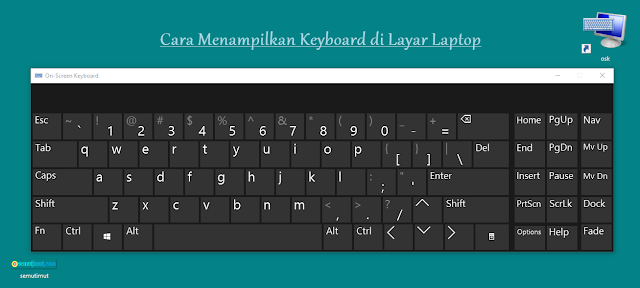 cara menampilkan keyboard di layar laptop