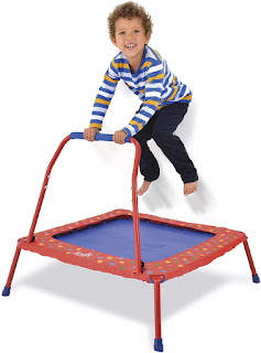 Galt Toys, Folding Trampoline; Galt Toys trampoline; Folding Trampoline for toddler; toddler folding trampoline; Toddler trampoline with easy grip handle; indoor outdoor trampoline;