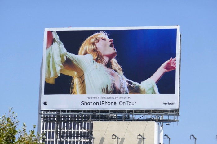Florence Machine Shot on iPhone On Tour billboard