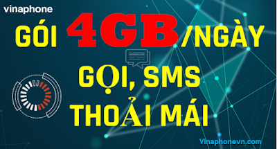 Danh sách Gói 4GB 1 Ngày Vinaphone, Miễn Phí Gọi vô tư! vinaphonevn.com