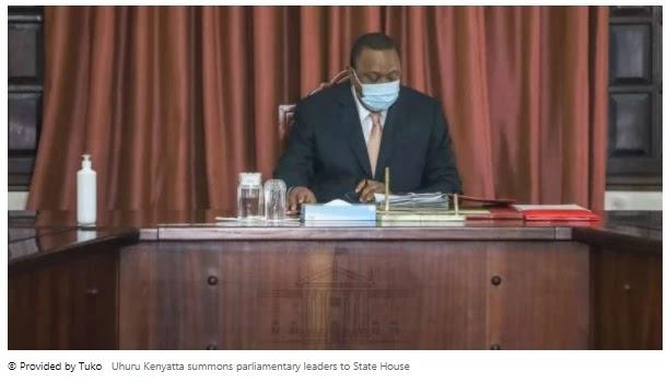 Uhuru Kenyatta summoned parliamentary leaders to the State House