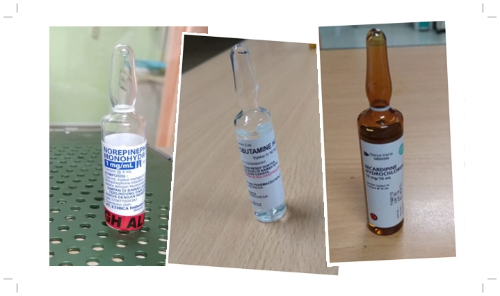 Rumus Pemberian Obat Norepinepherine, Dopamin, Nicardipin