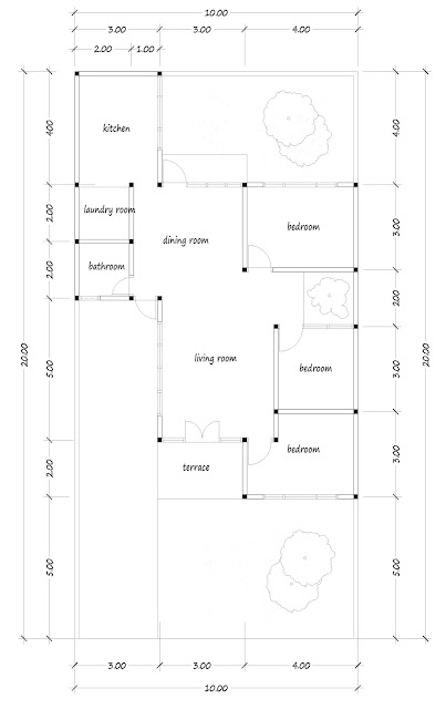 house with floor area of 100 square meters -02