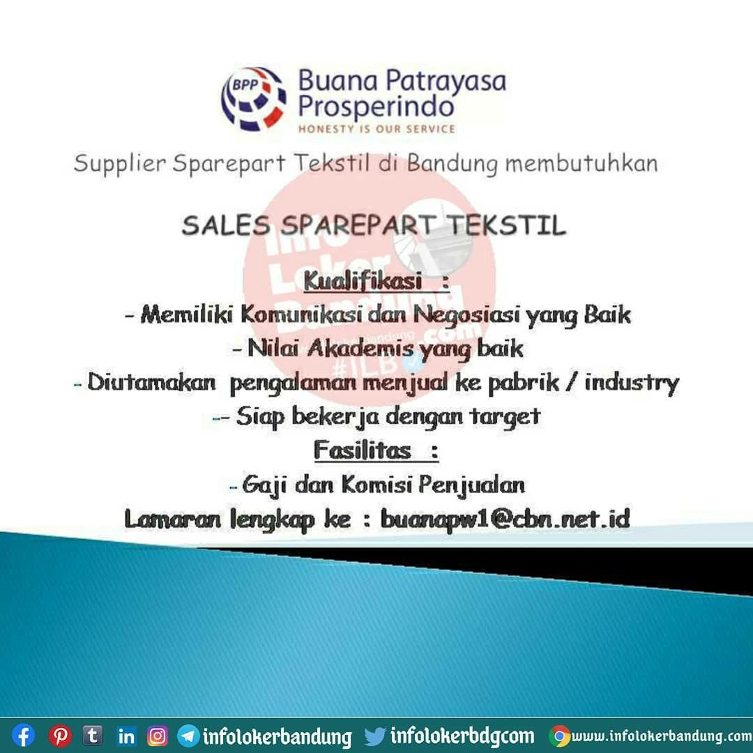 Lowongan Kerj Buana Partayasa Prosperindo Bandung Oktober 2020