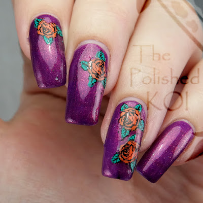 Illyrian Polish Illusive floral nail art