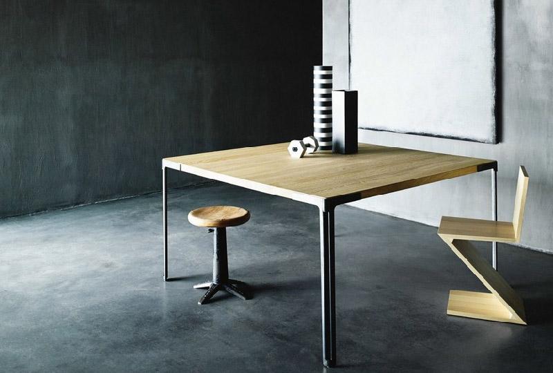 tavolo da pranzo in legno quadrato FAN di Desalto