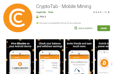 📱⛏ CryptoTab for Android: Earn Bitcoins on your phone for FREE