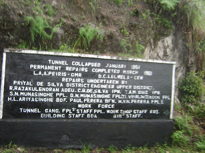 notice board at the tunnel 18