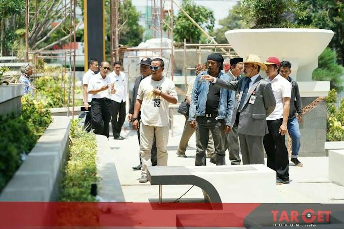 Lagi, Bupati Haryanto Tinjau Revitalisasi Alun Alun Pati